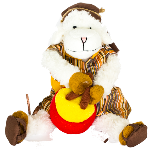 Delightful Drummer Sheep Plush Toy