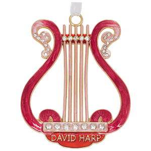 Pink Enameled David's Harp Wall Hanging