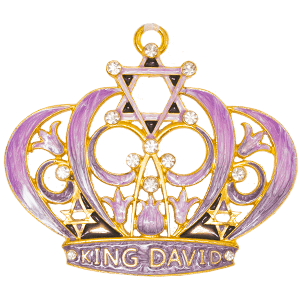 Purple Enameled Crown of David Wall Hanging