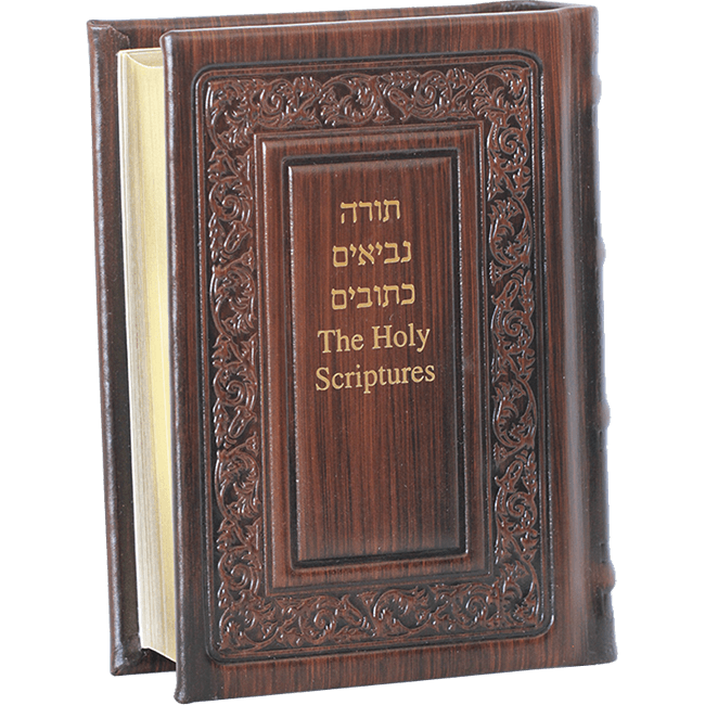 Old Testament Bible Hebrew English Leather Cover Illustrated