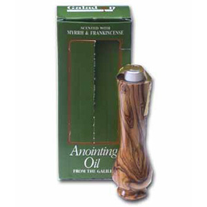Anointing Oil in Olive Wood Flask