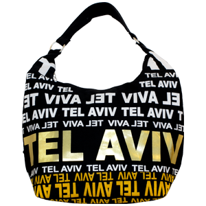 City Hobo Bag with Tel Aviv Gold Foil
