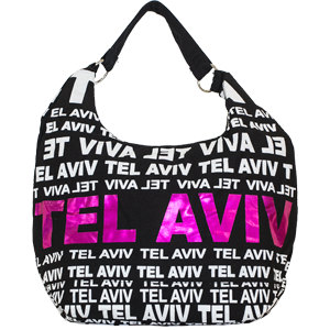 City Hobo Bag with Tel Aviv Pink Foil