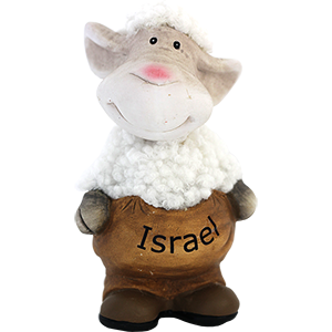 Upright Ceramic and Plush Isreal Sheep