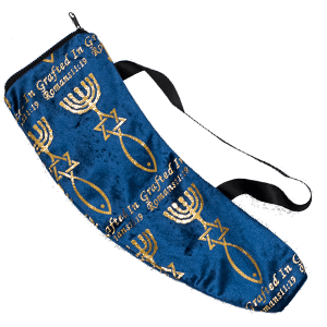 Grafted In Blue Small Shofar Bag