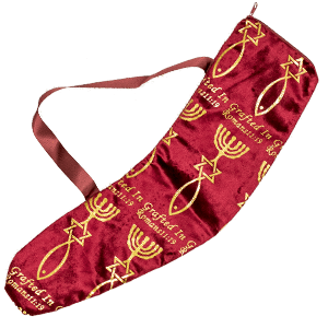Grafted In Burgundy Small Shofar Bag