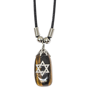 Tiger's Eye Star of David Necklace
