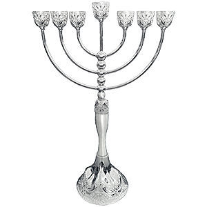 Silver Plated Antique Style Menorah