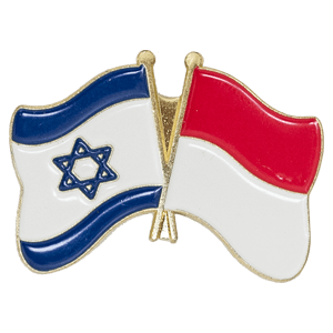 Indonesia-Israel Flags Lapel Pin