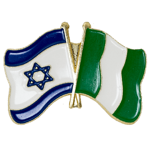 Nigeria-Israel Flags Lapel Pin