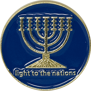 Menorah Light Lapel Pin