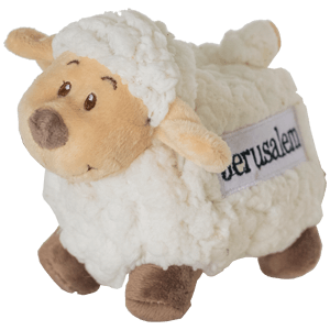 Jerusalem Fluffy Sheep Plush Toy. 2 Sizes