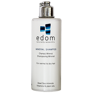 Edom Mineral Shampoo. Three formulas available.