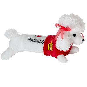 I Love Jerusalem Plush Poodle