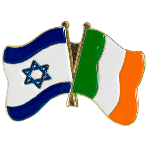 Ireland-Israel Flags Lapel Pin.