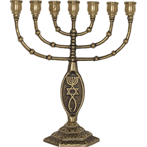 Messianic Grafted In Brass Menorah
