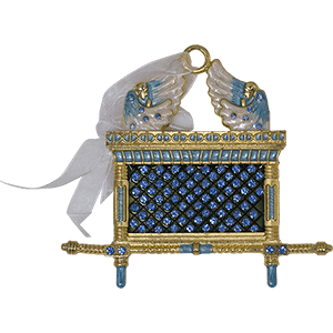 Blue Enameled Ark of the Covenant Wall Hanging