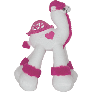 Pink Love Jerusalem Plush Toy Camel