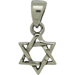 Entwined Star of David Sterling Silver Pendant