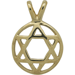 Gold Plated Double Bail Star of David
