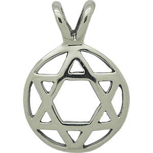 Silver Double Bail Star of David