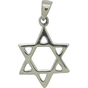 Smooth Silver Star of David Pendant