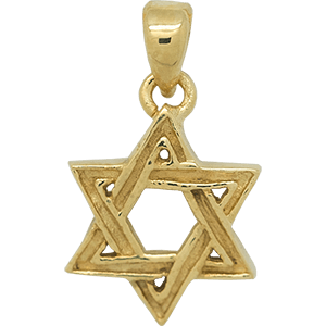 Textured Gold Plated Star of David Pendant
