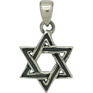 Textured Silver Star of David Pendant