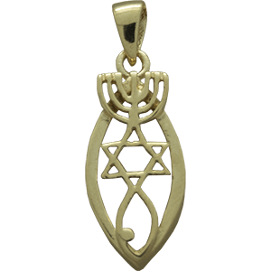 Marquis Shaped Gold Plated Grafted In Pendant