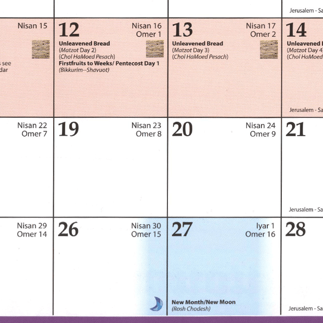 Sept Calendar 2020.The Holy Land Above 2019 2020 Messianic Calendar