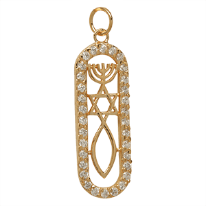 Yellow gold-filled Grafted In Pendant with Zircons