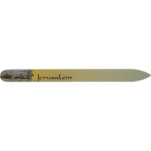Jerusalem Crystal Glass Nail File