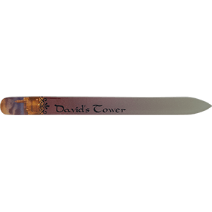 David's Tower Crystal Glass Nail File