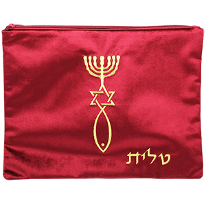 Burgundy Velvet Tallit Bag with Gold Grafted In
