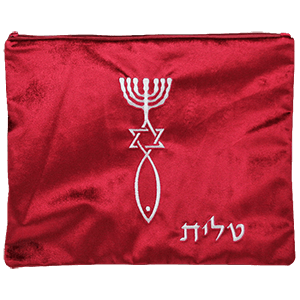 Burgundy Velvet Tallit with Silver Grafted In