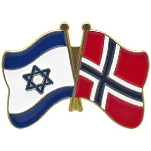 Norway-Israel Lapel Pin
