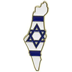 Map Of Israel Lapel Pin