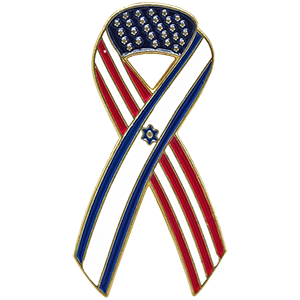 USA-Israel Ribbon Lapel Pin