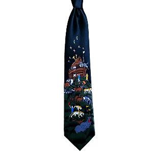 Black Noah´s Ark Neck Tie