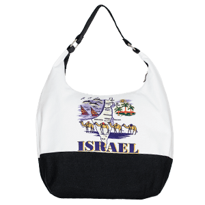 Israel Map Hobo Bag