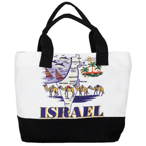 Israel Map Tote Bag