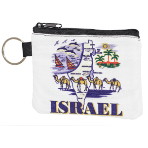 Israel Map Coin Purse