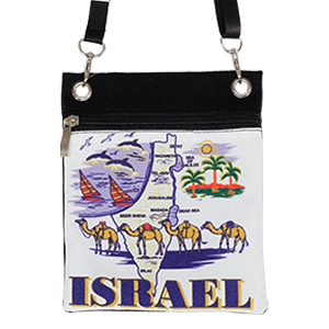 Israel Map Passport Bag