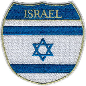 Israel Flag Shield Iron-On Patch
