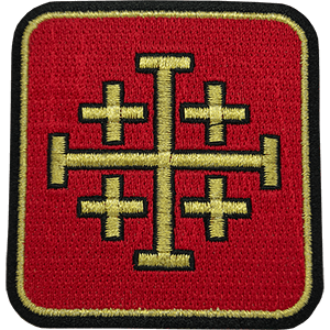 Jerusalem Cross Square Iron-On Patch
