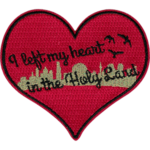 I left my heart in the Holy Land Iron-On Patch