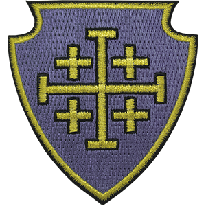 Jerusalem Cross Shield Iron-On Patch