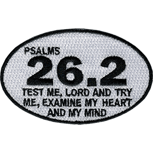 Psalms 26.2 Marathon Iron-On Patch