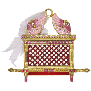 Red & Pink Enameled Ark of the Covenant Wall Hanging