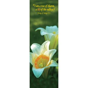 Lily Biblical Flower Bookmark